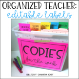 Organized Teacher: COPY TUB (w/editable labels)