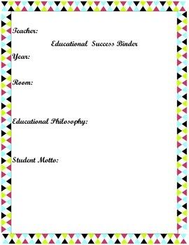 Organized Teacher Notebook for a Successful Year