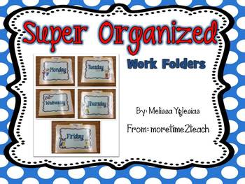 Organized Work Folders: Editable