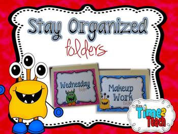Organized Work Folders: Editable {Monsters Theme}
