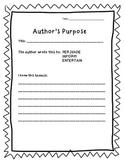 Organizer- Author's Purpose