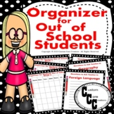 Organizer (Red/Black) for Out of School Students Distance