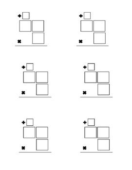 Multiplying 2 Digits by 1 Digit Organizer