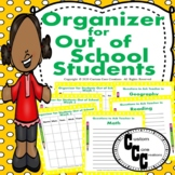 Organizer (Yellow/Green) for Out of School Students Distan