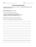 Organizer for Writing an Effective Essay