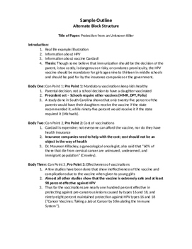 Organizing A Research Paper
