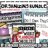 Organizing BUNDLE! - Checklist, Blogging Binder AND Tpt Purchase Binder in ONE!