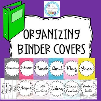 Organizing Binder Covers