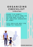Organizing Checklist for Parents of Kids and Teens