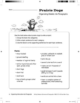 Organizing Details into Paragraphs