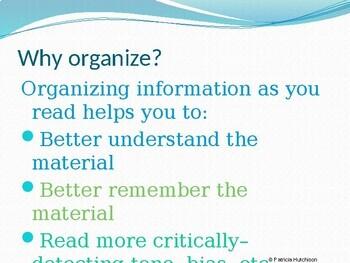 Reading Strategies: Organizing Ideas When Reading