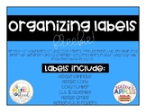 Organizing Labels for Volunteers