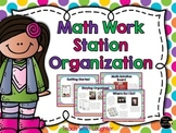 Organizing Math Stations in Your Classroom