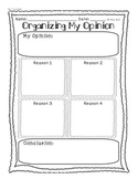 Organizing My Opinion Writing W.1 W.2