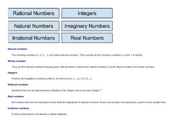 Organizing Numbers