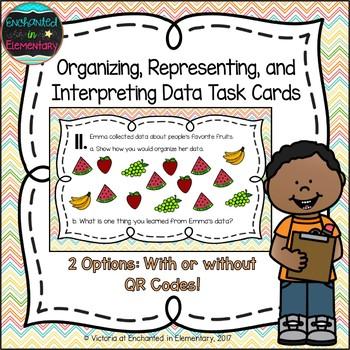 Organizing, Representing, and Interpreting Data Task Cards