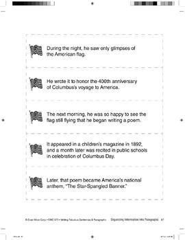 Organizing Sentences into Paragraphs