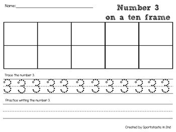 Organizing Ten Frames and Writing Numbers 1-10