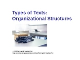 Organizing Text Structures Powerpoint, Practice Quiz and Answer Key