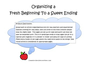 Organizing a Fresh Beginning to a Sweet Ending