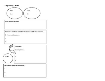 Organizing a Letter (interactive notebook)