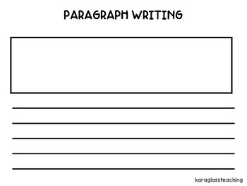 Organizing a Paragraph Graphic Organizer