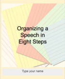 Organizing a Speech in 8 Steps for Google Docs