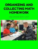 Organizing and Collecting Math Unit (Kathy Fosnot) Homework extension