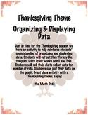 Organizing and Displaying Data Thanksgiving Theme