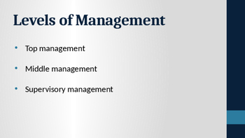 Organizing and Managing Business