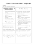 Organizing and Managing a Student Led Conference