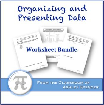 Organizing and Presenting Data Worksheet Bundle