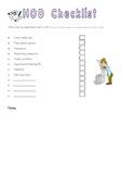 Organizing checklists