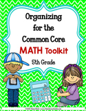 COMMON CORE ORGANIZER {5th Grade MATH Toolkit}