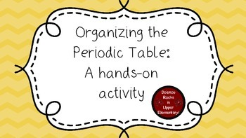 Organizing the periodic table a hands on activity tpt organizing the periodic table a hands on activity urtaz Images