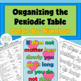 Organizing the Periodic Table Color-by-Number