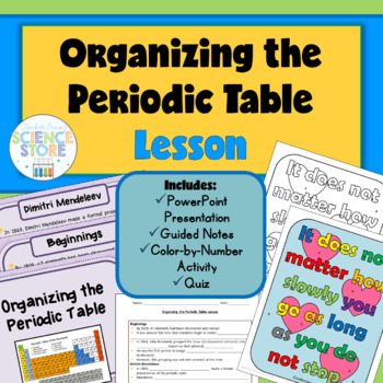 Organizing The Periodic Table Lesson By Teacher Ericas Science Store