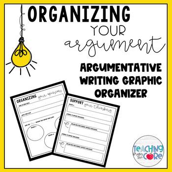 Organizing your Argument: Argumentative Writing Graphic Organizer