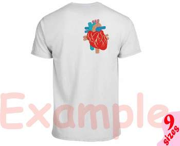 Organs Anatomy Embroidery Design biology science heart liver Stomach Lungs 154b