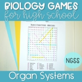 Organs & Organ Systems Word Search