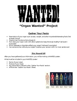 Organs Wanted Poster Project