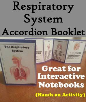 Organs of Respiratory System Interactive Notebook: Human Body Systems Project