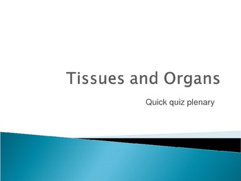 Organs to systems lesson