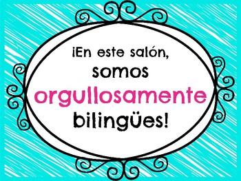 Orgullosamente Bilingues Poster