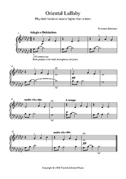 Oriental Lullaby -  A Level 3 Piano Solo