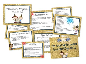 Orientation New Years Theme PowerPoint EDITABLE