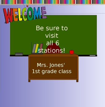 Orientation Night display for smartboard