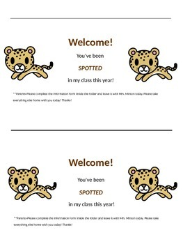 Orientation Welcome Cards