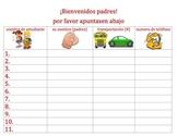 Orientation sign-up for parents (bilingual)