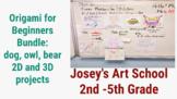 Origami 3 Lesson Bundle 3D Art Lesson 2D Line Drawing Comb